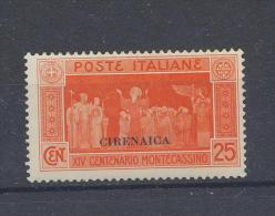 Cirenaica 1929 Montecassino Cent 25 - Cirenaica