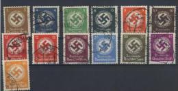 Deutsches Reich Dienst Michel No. 132 - 143 gestempelt used