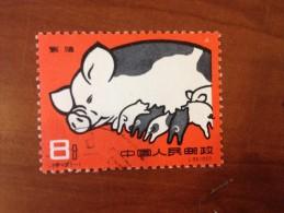 1960 Chine China Yvert 1304 Cochon - Usati