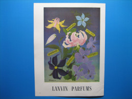 Publicité 1947 LANVIN PARFUMS  -  Au Verso, BANDIT Parfum De ROBERT PIGUET - Advertising