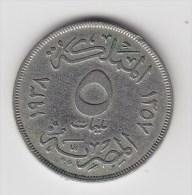 @Y@  Egypte  5  Mil   1938   (2664) - Egipto