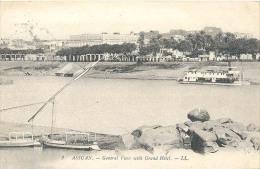 Aswan (Assuan / Asswan), .General View With Grand Hotel  - L.L.   (2 X Scan) - Aswan