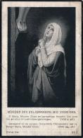 DOODSPRENTJE - AALMOEZENIER GASTHUIS ST;JOZEF RILLAAR - J. VAN DEN SCHOOR - LICHTAART 1842 - RILLAAR 1942   2 SCANS - Andachtsbilder