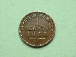 1868 C - 1 Pfenning 360 Einen Thaler PRUISEN / KM 480 ( Uncleaned Coin / For Grade, Please See Photo ) !! - Taler Et Doppeltaler
