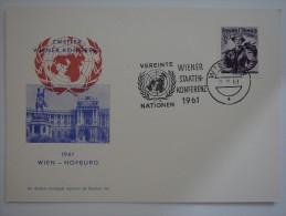 Austria 1961 Postcard Cover To UK Zweuter Wiener Kongress - 1945-.... 2ème République