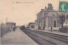 23096 (France 78)  BREVAL INTERIEUR DE LA GARE -coll Lafosse 23 - Locomotive Train