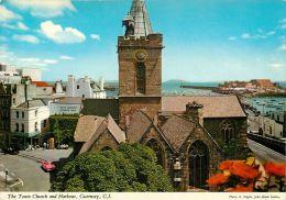 Town Church And Harbour, Guernsey Postcard John Hinde - Guernsey