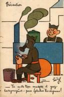 CPA  -  Humour Militaire  - Illustrateur Luc Cyl - Précaution - Tu Mets Ton Masque à Gaz Lacrymogènes.... - Humour
