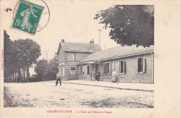 23105 GRANDVILLIERS - La Gare Et L'avenue Saget  -cliche Compere