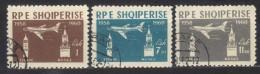 R118 - ALBANIA 1960 ,  Posta Aerea Serie N. 54/56 - Albania