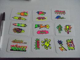 Autocollant - Kellogg's FROSTIES Maxi- Fluos - X 9 - Stickers