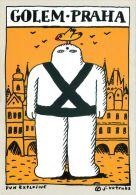 Golem Cartoon, Prague Praha, Czech Republic Postcard Used Posted To UK 2007 Meter - Tchéquie