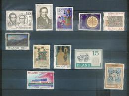 Lotpm 109 - Lot De Bons Timbres D' ISLANDE Neufs * - Port Simple Gratuit - Free WW Postage - Collections, Lots & Séries