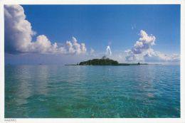 Atoll Island, Maldives Postcard Used Posted To UK 2002 Nice Stamp Fish - Maldives