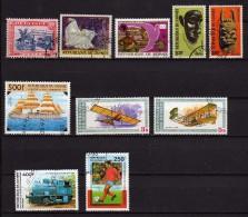Guinée 10 Timbres Oblitérés  (779) - Guinée (1958-...)