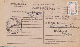 MITRY MORY - Carte Postale De Ravitaillement Avec Sceau Mairie MITRY MORY - Scan Recto Verso - France