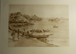 Héliogravure. Italie. Le Lac De Bolsena. D´après Un Croquis D´Estadieu. - Estampes & Gravures