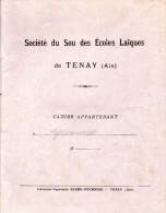 Cahier De Devoirs D´écolier 1930, Tenay, Ain. Français, Calcul (problèmes), Sciences. Du 17/06/1930 Au 29/07/1930 - Autres
