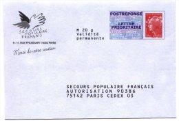 PAP Réponse Secours Populaire Francais - Neuf - 12P357 - PAP: Antwort/Beaujard