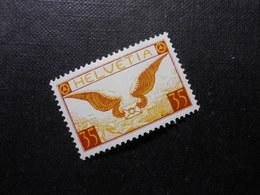 CH ZNr.14z  35C*  Flugpost 1933 - Geriffeltes Papier - Z CHF 19.00 - Luftpost