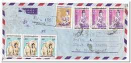 Birma Envelope To Amsterdam Netherlands ( Top Left Damaged ) - Myanmar (Birma 1948-...)