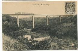 Mauritius Maurice  Grand River Railway Bridge Train  Edit. Vidal Stamped But Not Postally Used - Maurice