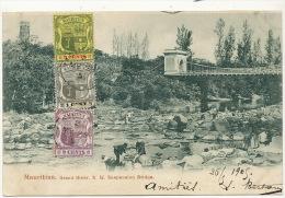 Mauritius Maurice  Grand River  NW Suspension Bridge Pont Suspendu  Used 3 Stamps - Maurice