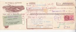 LETTRE DE CHANGE ILLUSTREE- PELLETERIES ET FOURRURES -TONY GAY -THOISSEY -AIN -1959 - Bills Of Exchange