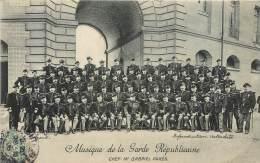MUSIQUE DE LA GARDE REPUBLICAINE  . CHEF : Mr GABRIEL PARES . - Regiments