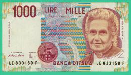 Italie - 1000 Lire - N° LE 833150F - TTB - [ 2] 1946-… : République