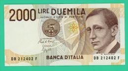 Italie - 2000 Lire - N° DB 212402F -  - TTB+ - [ 2] 1946-… : République