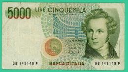 Italie - 5000 Lire - N° GB 148149P -  - TTB - [ 2] 1946-… : République