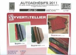 JEU FRANCE SUPRA YVERT AUTOADHESIFS 2011 2EME SEMESTRE - Pré-Imprimés