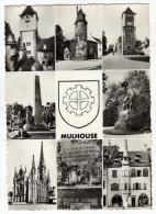 $ CPSM MULTIVUES EGLISE SAINT-ETIENNE, TOUR SALVATOR, PIERRE DES BAVARDS... MULHOUSE 68 HAUT-RHIN - Mulhouse