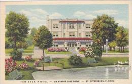 Florida St Petersburg Ten Eyck Hotel on Mirror Lake Drive Curtei