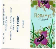 Carte Parfumée Floramye, L.T Piver, Paris. Au Verso Calendrier 1978. Offert Par Lucas Frères à Sains En Gohelle. - Modernes (à Partir De 1961)