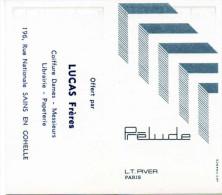 Carte Parfumée Prélude, L.T Piver, Paris. Au Verso Calendrier 1972. Offert Par Lucas Frères à Sains En Gohelle. - Modern (from 1961)