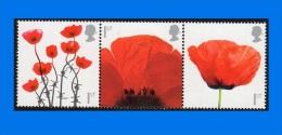 GB 2006-2008, Lest We Forget, Series Of 3 Single Stamps MNH - 1952-.... (Elizabeth II)