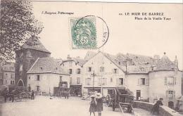 23112 MUR DE BARREZ / Place Vieille Tour -auvergne Pittoresque -10 Roux Aurillac -enfant Attelage Auberge Verdier - France