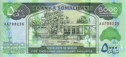 SOMALILAND   5 000 Shillings  Emission De 2011    ***** BILLET  NEUF ***** - Somalia