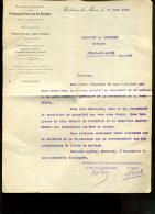 Société Anonyme Des Mines De Houilles De Blanzy à Montceau Les Mines (71) - Lettre Du 1er Juin 1934 - 1900 – 1949
