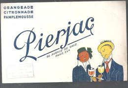 Buvard. Pierjac 60 Avenue de Saxe Paris Orangeade Citronnade Pamplemousse offert par Alexandre Petit Chateauroux