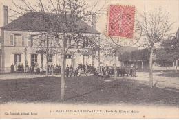 23125  MARVILLE MOUTIER BRULE Ecole De Filles Et Mairie - 4 -éd Foucault Dreux - Non Classés