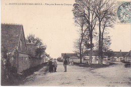 23127  MARVILLE MOUTIER BRULE Perspective De La Route DeDreux -ed Foucault Dreux -