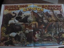 Affiche Poster Plakat Circus Cirque Circo Cirkus Zirkus Sirkus New Repro Ringling Barnum - Affiches