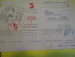 Quittance D´Abonnement / Société Du Gaz De Paris/ 1934         GEF16 - Electricity & Gas