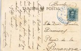 7428. Postal CENTELLAS (barcelona) 1925. Vista Manso Llavina - 1889-1931 Reino: Alfonso XIII