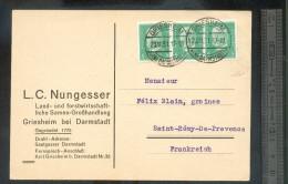 Carte Postale Commerciale GRIESHEIM 1931 - Briefe U. Dokumente