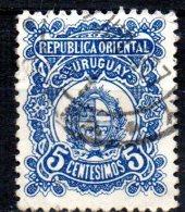URUGUAY 1906 Arms - 5c. - Blue   FU - Uruguay