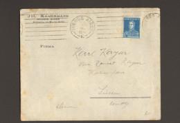 12 C San Martin 1924 Auslandsbrief Von Buenos Aires N.Deutschland,rückseitig 2  Württ.Bahnpoststempel 2 Bilder - Argentinien